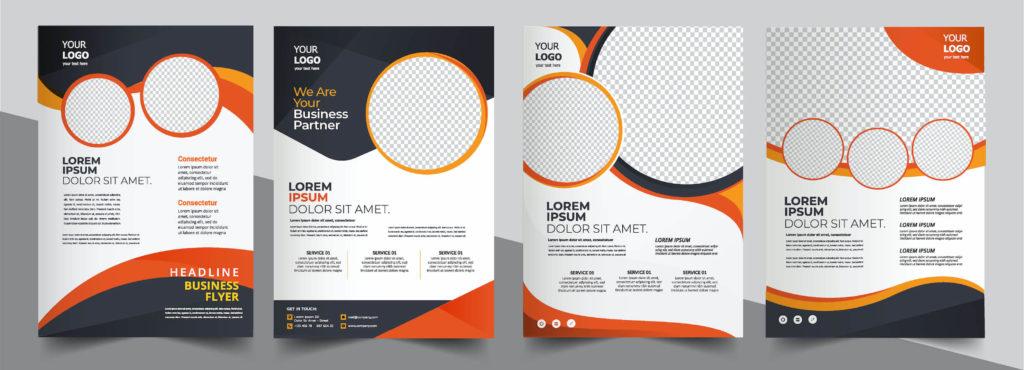 business-flyer per differenziare con volantino e brochure