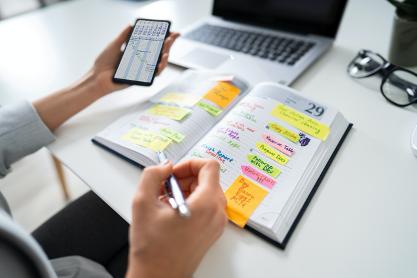 Gestisci e struttura tempo e organizzare lavoro da freelance